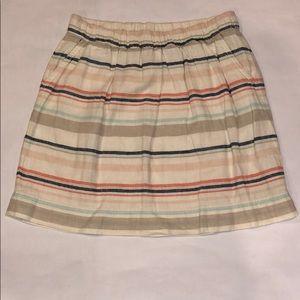 Sonoma Stripped Skirt- Size 8